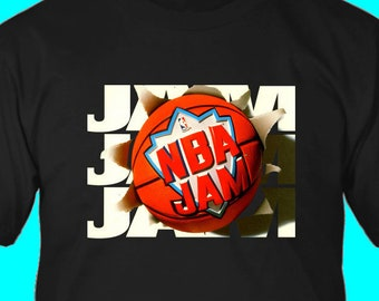 23f1111d4 NBA Jam Retro Vintage Video Game Logo Unisex T-Shirt