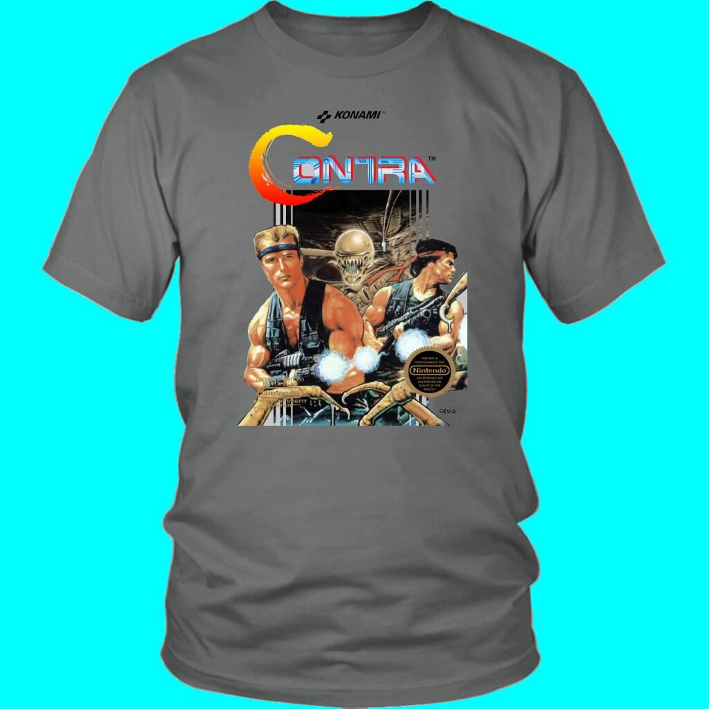Excitebike Nes Box Art Retro Video Game Long Sleeve T Shirt