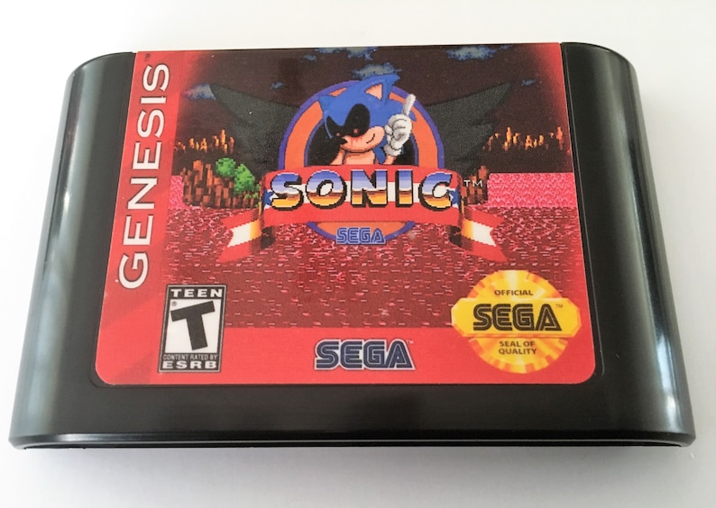 Sonic EXE - Sonic the Hedgehog (Hack) (Sega Genesis / Mega Drive) - Custom  Reproduction Video Game Cartridge