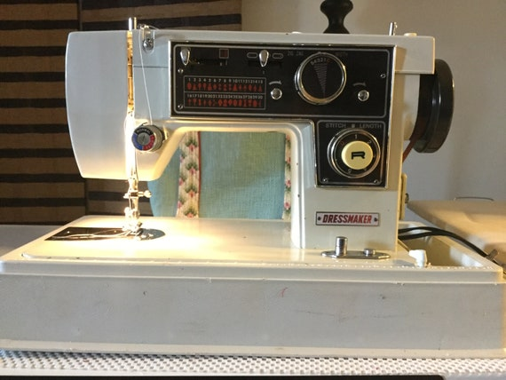 Dressmaker S40 AAB Zig Zag Sewing Machine With Complete Set Etsy Fascinating Dressmaker Special Sewing Machine