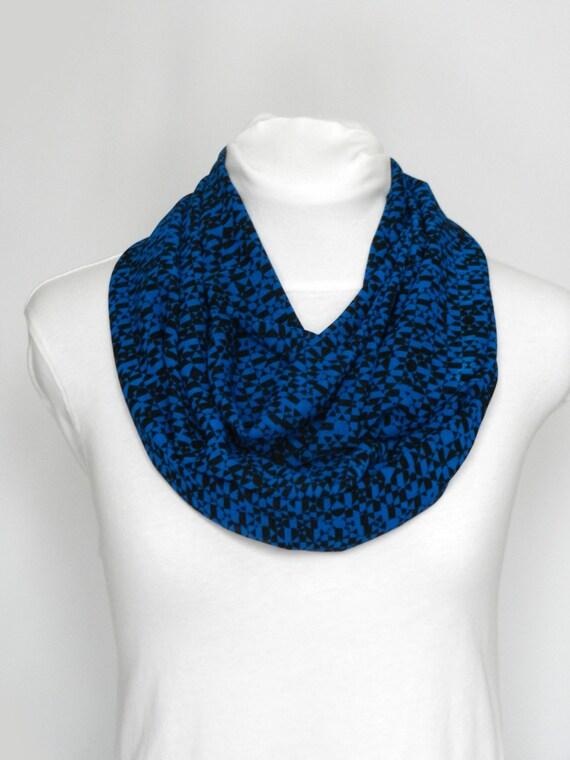 fea1573aed9a Foulards pour femmes foulard géométrique bleu écharpe dété   Etsy