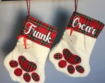 Personalized dog stocking, personlized cat stocking, pet stocking, Personalized Vinyl name pet stocking