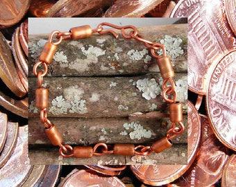Copper tube bracelet