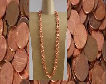 Copper chain necklace