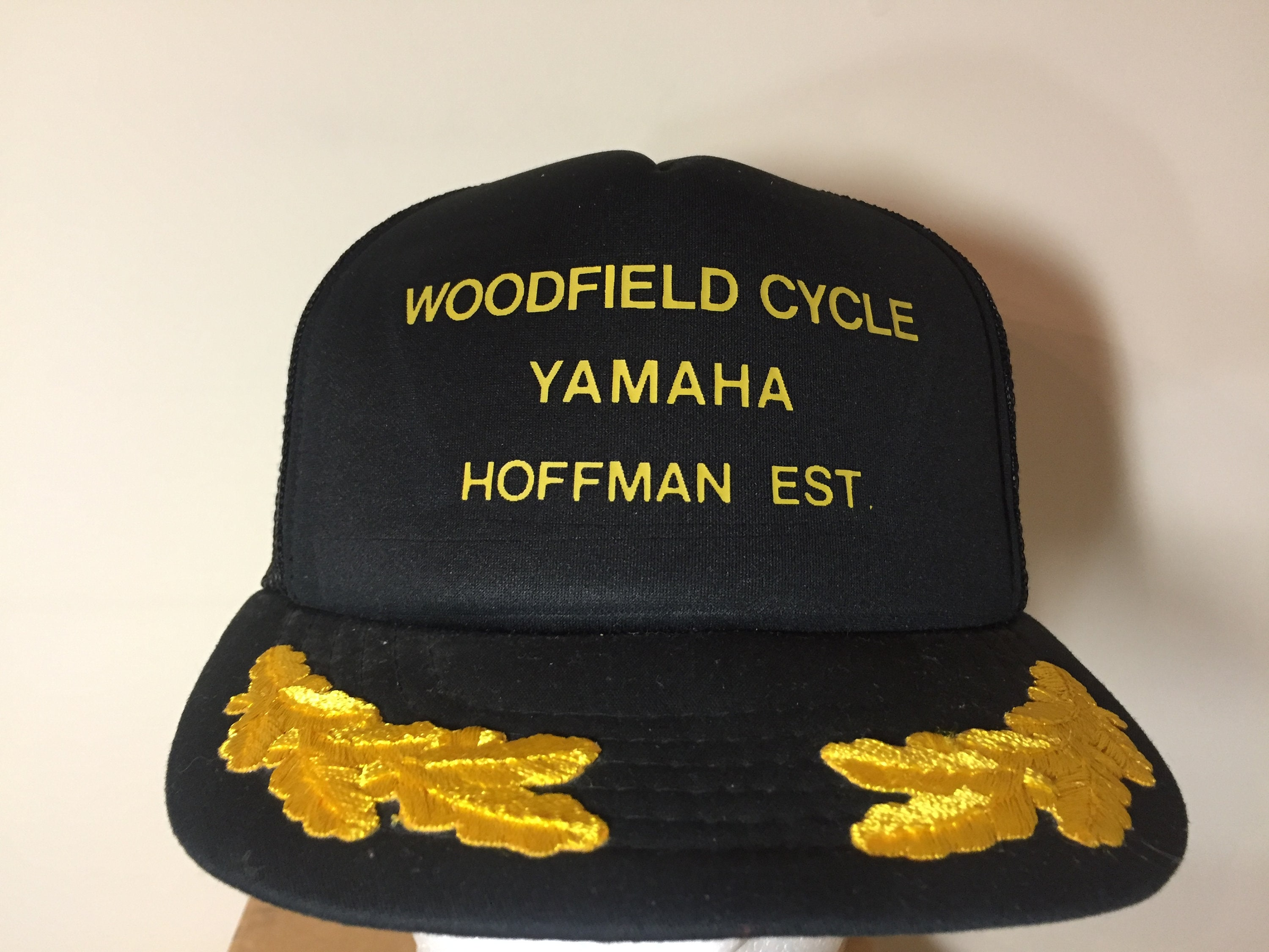 Ball Cap Adult Men Women WOODFIELD CYCLE YAMAHA Hoffman  84b03601b9f