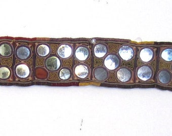 NW15434 Embroidered Belt Gypsy Mirror Work Vintage Tribal Ladies Belly Dance Clothing Accessory