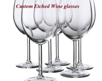 etched wine glass etsy