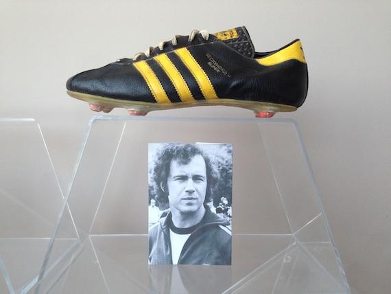 Bottes moto vintage adidas Beckenbauer classique Beckenbauer adidas vintage empereur souliers de soccer,
