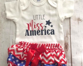 Little Miss America/Fourth of July/Red, white & blue/Memorial Day/Independence Day/USA/America/4th of July