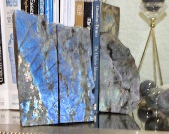 Labradorite Bookends