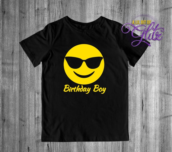 Emoji Birthday Shirt Boys Youth