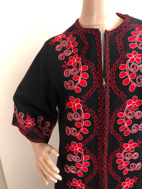 Vintage 70s Afghan Coat in handmade Embroidered wo