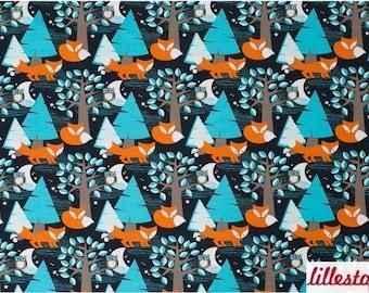 cfda1ea7c3b Night Fox Organic Cotton Jersey by Lillestoff - Lilly and Mimi Fabric Shop  UK
