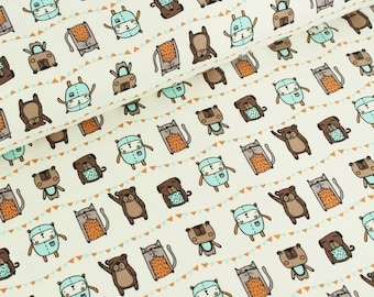 9b4710a5c1b Stoffonkel Organic Cotton Jersey Friend Forever - Lilly and Mimi Fabric Shop  UK
