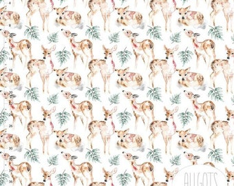 2fc8cb57f39 Oh Deer Organic Cotton Jersey by Allgots - Lilly and Mimi Fabric Shop UK