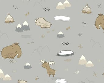 Ancient Animals in Grey Organic Cotton Jeresey