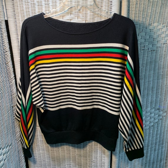 80's Striped Boatneck Sweater
