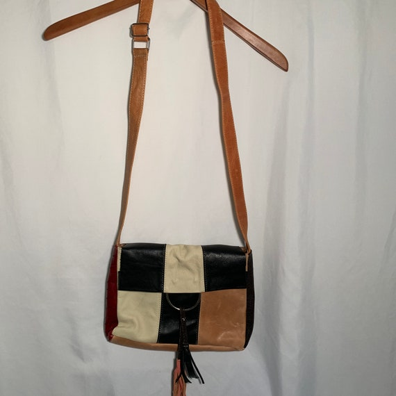 Leather Patchwork Crossbody - image 2