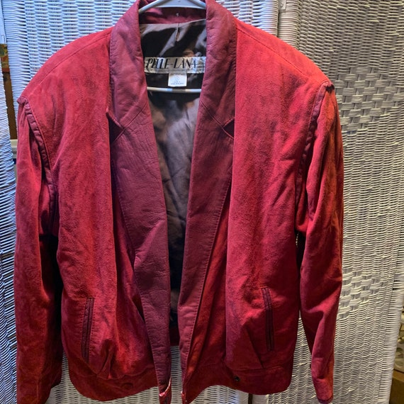 80's Red Suede Jacket
