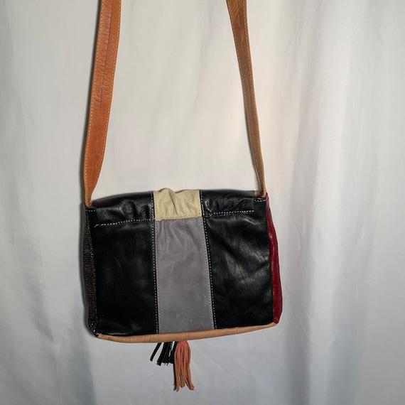Leather Patchwork Crossbody - image 3