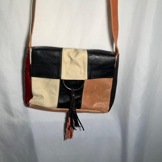 Leather Patchwork Crossbody - image 1