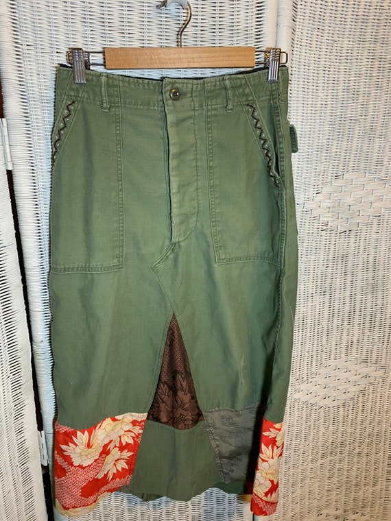 Vintage Army Pants Redisigned Skirt