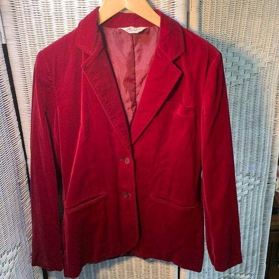60's Donovan Galvani Red Velvet Smoking Jacket