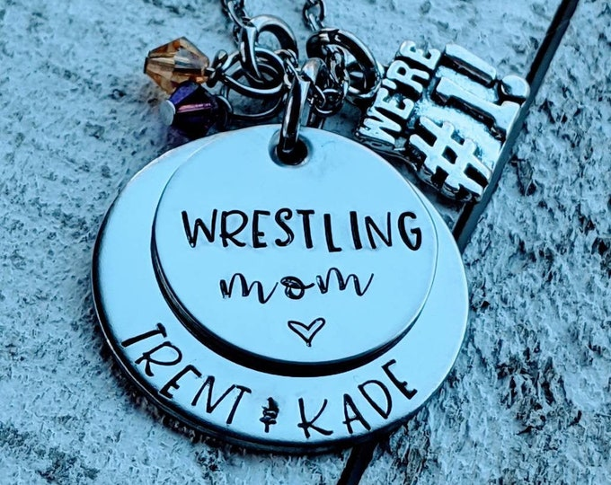 Wrestling Mom necklace. Wrestling. Wrestle. Sports mom. Child athlete. Team mom.