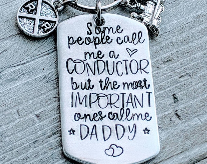 Conductor Dad. Father's day. Blue collar dad. Husband gift. Railroad. Engineer. Train. Loco. Locomotive. Crazy for dad.