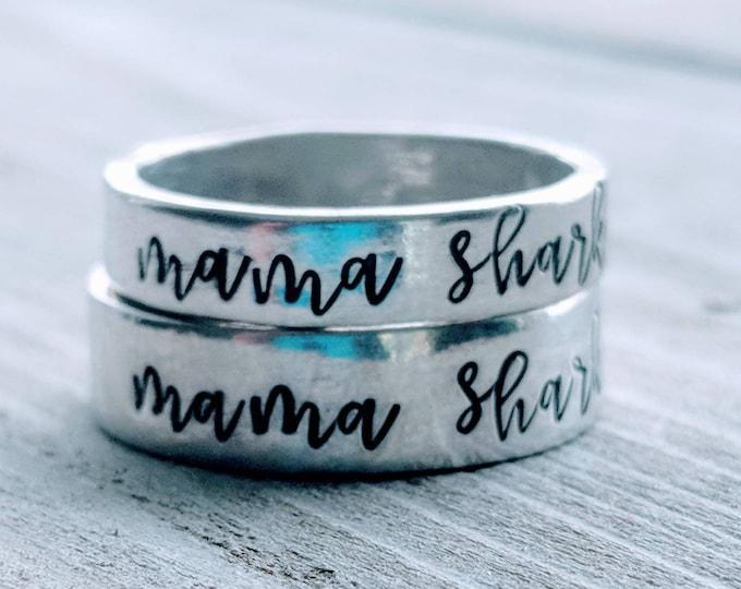 Mommy Shark, Mama Shark, Baby Shark, Shark Jewelry. Shark Ring. Shark Family. Do Do Do Do, Grandma Shark, Auntie Shark. Nana Shark