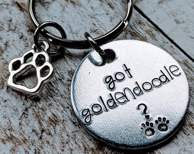 Got goldendoodle? keychain Golden doodle dog lover goldendoodle gift