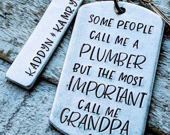 Plumber Dad. Father's day. Blue collar dad. Husband gift. Plumber. Plumbing. Plumber grandpa.