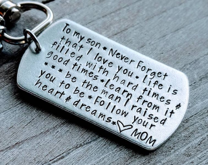 Son gift. Never forget that I love you. Gift for son. Gift for Army guy. Deployment. Son getting married. Son graduating.