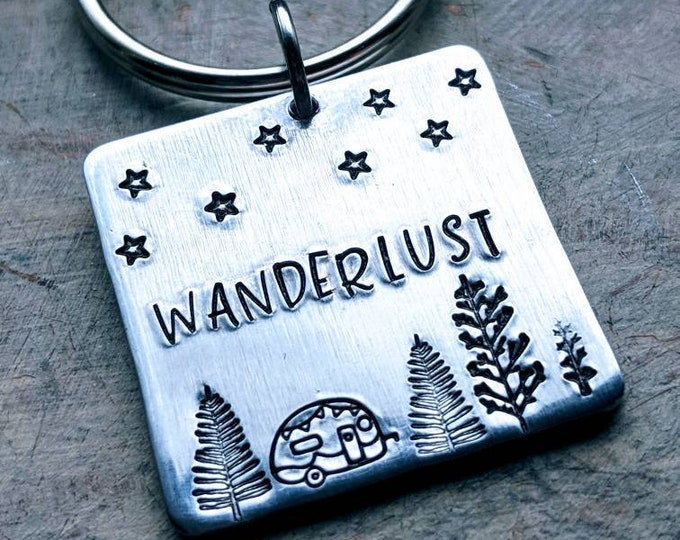 Wanderlust keychain. Travel. Traveller. A strong desire to travel. Gift for Bestie.