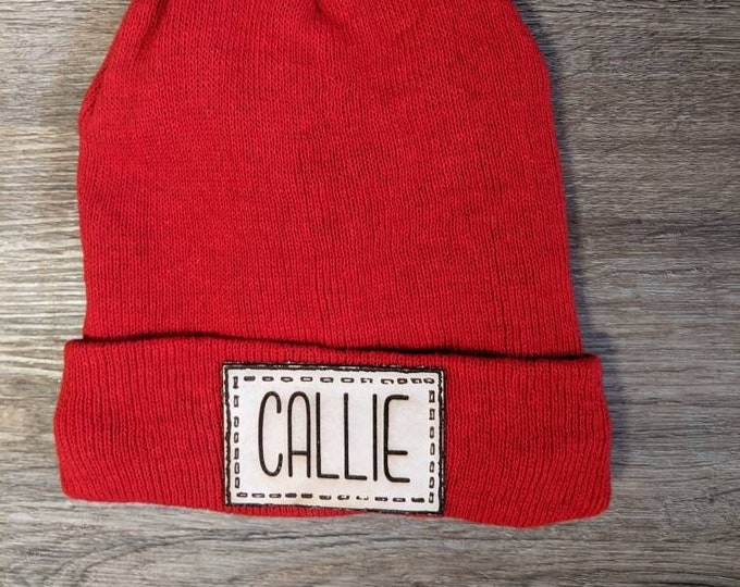 Personalized Beanie. Hat for kids. Laser engraved. Kids name. Custom hat. Gift for kids.
