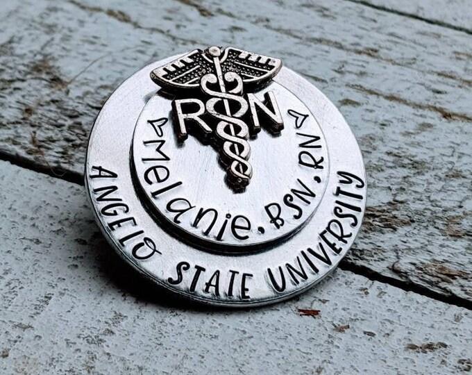 Nurses' pin. Nursing school graduation. Gift for nursing graduate. 2021 grad. Nurse. Nursing school grad. RN gift. LPN. Registered nurse.