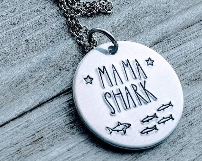 Mommy Shark, Mama Shark, Baby Shark, Shark Jewelry. Shark Necklace Grandma Shark Auntie Shark Nana Shark