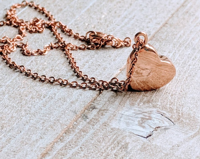 Urn heart necklace. Memorial jewelry. Rose Gold Urn. Los of husband. Loss of son. Loss of daughter. Loss of mom. Loss of dad. Loss of parent