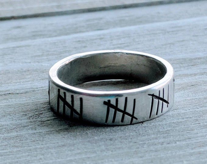 Anniversary. Years married Men's Rings 6 mm, Guy. Boyfriend. Gift for him.  Valentine's Day. Stamped ring. Pewter. Birthday. Hubby. Husband