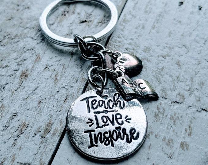 Teacher gift. Teacher Appreciation Gift. Teach Love Inspire. End of year gift. Educator gift. Administrator. School.