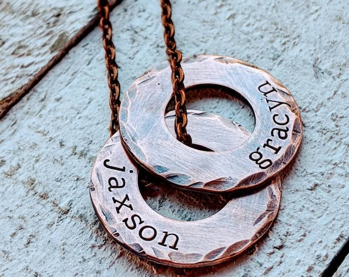 Dad washer necklace. Copper washer. Dad gift. Father's day. Gift for a dad. Dad birthday. Men's necklace. Copper necklace.