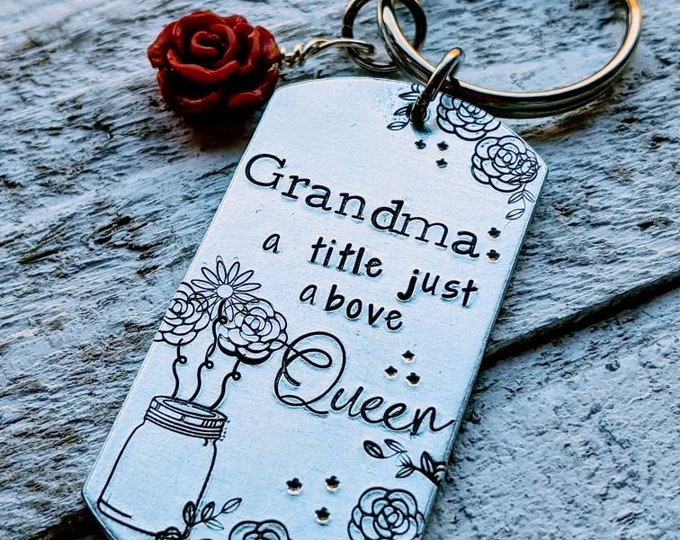 Mom: a title just above queen. Mom gift. Mother's day gift. Gift for her. Grandma gift.