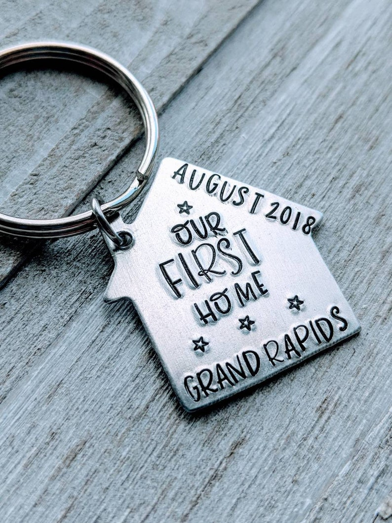 Our First Home  Homeowner  House warming  Gift  On SALE!!! House keychain   New home  One keychain!