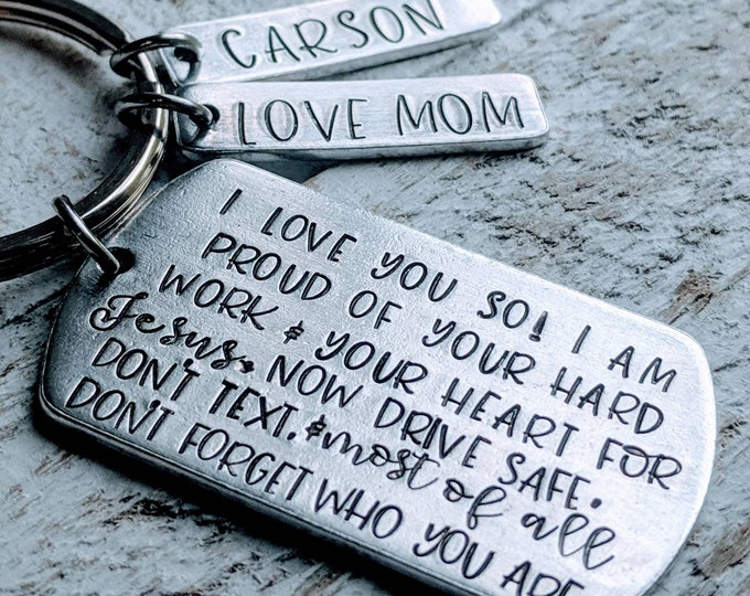 Son gift. I love you. Gift for son. Gift for soldier. Deployment. Son getting married. Son graduate. Don't text and drive.