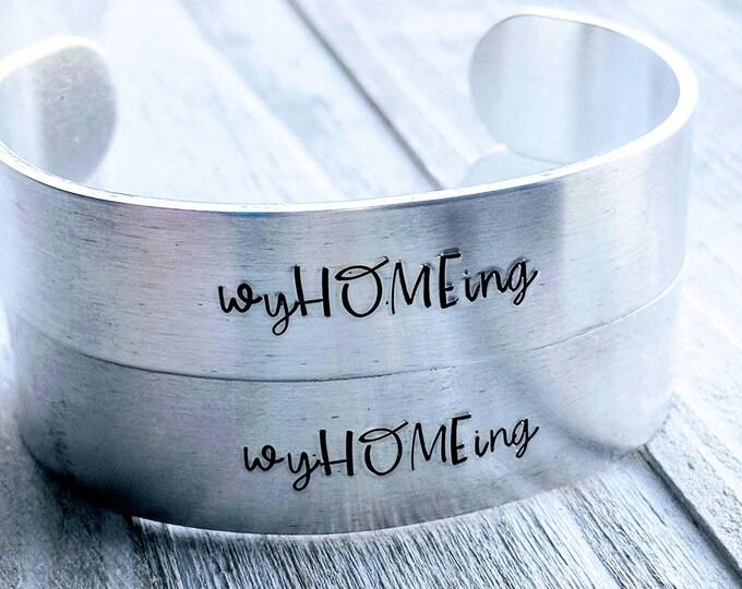 "WyHOMEing ""Home"" Bracelet, Wyoming, USA, The Equality State, 1890. Wyomingite. USA. Graduation gift."