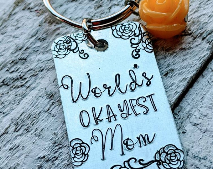 World's Okayest Mom. Mom gift. Mother's day gift. Gift for her. Funny mom gift.