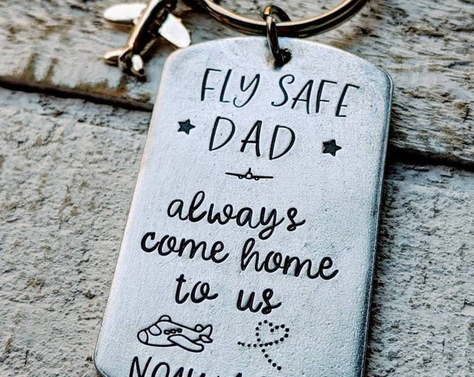 Pilot gift. Fly safe dad. We need you here with us. Gift for dad. Father's day.