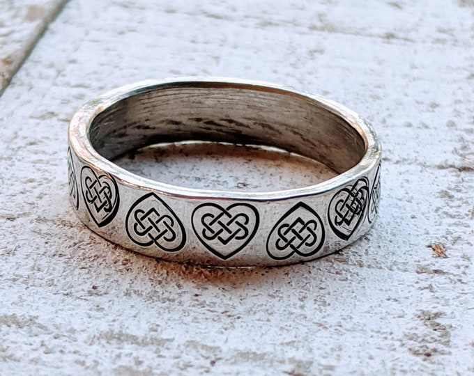 Anniversary. Men's Rings 6 mm, Guy. Boyfriend. Gift for him.  Valentine's Day. Stamped ring. Pewter. Birthday. Hubby. Husband ring.