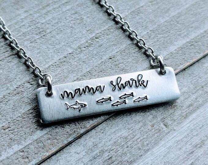 Mommy Shark, Mama Shark, Baby Shark, Shark Jewelry. Shark Necklace. Shark Family. Do Do Do Do, Grandma Shark, Auntie Shark. Nana Shark