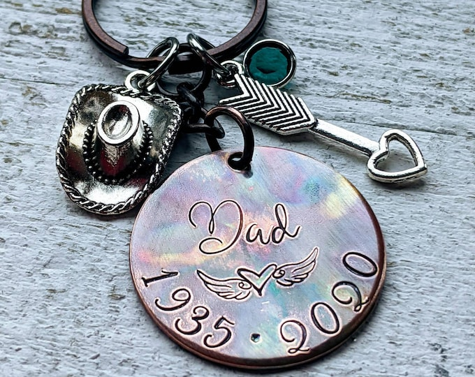 Death of parent. Lost Mom. Lost dad. Memorial keychain. Lost family member. Death of loved one. Lost parent.